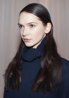 Slick your loose waves down for a change.