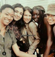 Badass women from the Walking Dead.