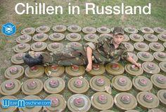 Russischer Soldat chillt auf Minen - Russenwitze - Funny Russian Fail