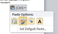 Excel: Paste Value shortcut - Ctrl +V, then Ctrl, then V