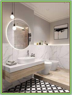 Beautiful bathroom decor some ideas. Modern Farmhouse, Rustic Modern, Classic, light and airy master bathroom design a few ideas. Bathroom makeover tips and bathroom remodel tips. Wood Bathroom, Grey Bathrooms, Bathroom Colors, Bathroom Flooring, Bathroom Ideas, Bathroom Mirrors, Bathroom Lighting, Bathroom Organization, Bathroom Cabinets