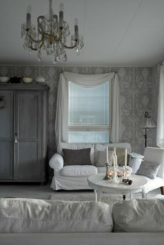 Decor, Interior, Living Room Colors, White Decor, Home Decor, House Interior, White Interior, Interior Wallpaper, Shabby Chic Room