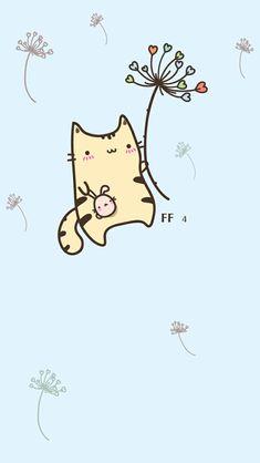 Cute and Kawaii Sf Wallpaper, Cute Cat Wallpaper, Kawaii Wallpaper, Bohemian Wallpaper, Iphone Wallpaper, Wallpaper Ideas, Kawaii Illustration, Chat Kawaii, Kawaii Cute