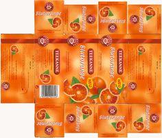 Blood orange tea box