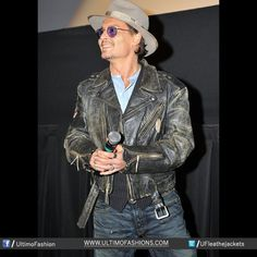 Johnny Depp Distressed Real Black Leather Jacket