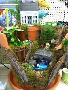 No gnomes allowed fairy garden.  Designed by Kristin Middleton .