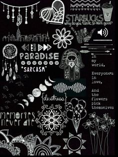 Black And White Wallpaper Overlays Transparent Tumblr Words