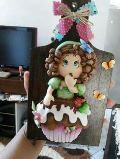 Clay Projects, Clay Crafts, Wood Crafts, Diy And Crafts, Crafts For Kids, Arts And Crafts, Paper Crafts, Country Biscuits, Clay Fairy House