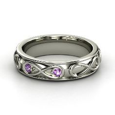 Infinite Love Ring, White Gold Ring with Amethyst from Gemvara