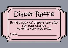diaper raffle poem - Google Search