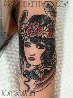 by jon gorman at providence tattoo  #jongorman #providencetattoo #angel #tattoo #lady