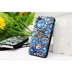 Cool Summer Breeze In The Ocean Beach Collection: Iphone4/4S Case with Embossment