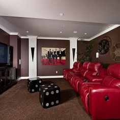 Media Room Wall Decal Design Pictures Remodel Decor And Ideas Small Movie