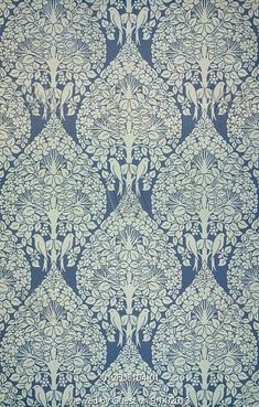 Portion of The Lerena wallpaper, designed by C.F.A. Voysey (1857-1941), manufactured by Essex & Co. Print. Essex, England, c.1897.