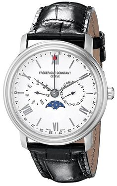 aedf9bc5d43 online shopping for Frederique Constant Men s Business Time Analog Display  Swiss Quartz Black Watch from top store. See new offer for Frederique  Constant ...
