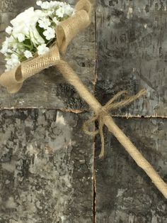 flower girl wand rustic style with rose and by Lovefromlilywedding, £10.50