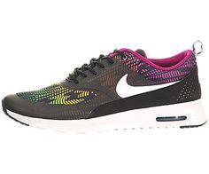 low priced e4947 14dea Nike Womens Air Max Thea Print BlackWhiteBrght MgntRd Vlt Running Shoe 9  Women US --