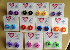 Strijkkralen oorbel - hama beads earrings