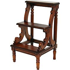 Lovely for a home library ~ Wood European-Design Three-tiered Step Table Shelf Furniture, Furniture Deals, Home Furniture, Oriental Furniture, Sofa End Tables, Side Tables, Handmade Furniture, Joss And Main, Antiques