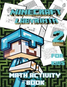 Minecraft Labyrinth :  Math Activity Book and Coloring Book For Kids : Unique Labyrinths Geometric  @ niftywarehouse.com #NiftyWarehouse #Minecraft #Geek #Gaming #VideoGames