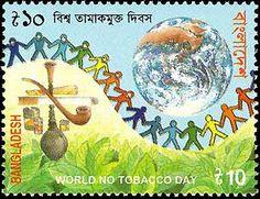 Francobolli - Lotta contro il fumo Anti-smoking stamps Bangladesh 2001