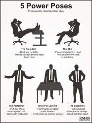 Body Language & Confidence - To Increase Confidence – Adopt Power Poses. Interesting they only use men in this graphic - ho hum! Increase Confidence, Confidence Tips, Confidence Building, Real Men Real Style, Real Man, Confident Body Language, Reading Body Language, Psychology Facts, Forensic Psychology