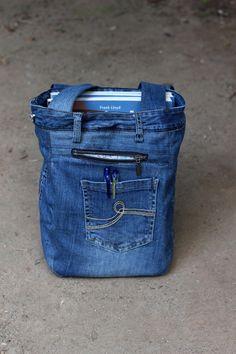 Recycled denim bag,  Unisex bag, Beach bag, Casual Denim Bag, Upcycled Denim Bag, Handbag, ipad, kindle pocket, Code: Kala-02, GAMMAstudio by GAMMAstudio on Etsy https://www.etsy.com/listing/456581742/recycled-denim-bag-unisex-bag-beach-bag