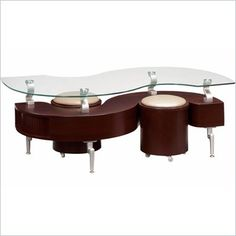 Global Furniture USA Dontai Glass Top Coffee Table in Mahogany, Clear/Black/Stainless Steel Legs S Shaped Coffee Table, Coffee Table And Side Table Set, Mahogany Coffee Table, Coffee Table With Drawers, Black Coffee Tables, Oak Coffee Table, White Side Tables, Lift Top Coffee Table, Glass Top Coffee Table