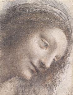 Leonardo da Vinci: Head of the Virgin in Three-Quarter View Facing Right (51.90) | Heilbrunn Timeline of Art History | The Metropolitan Museum of Art