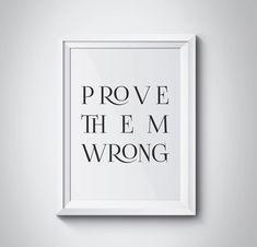 Prove Them Wrong, Office Decor, Lawyer Gift, Motivational Poster, Minimalism, Scandinavian, Typography, Black and White Print, #HQMOT048 by HQstudio on Etsy