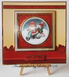 A Christmas card made using A special delivery card kit from Hunkydory. More details can be found at http://stampingbubbles.blogspot.co.uk/2016/10/a-special-delivery.html