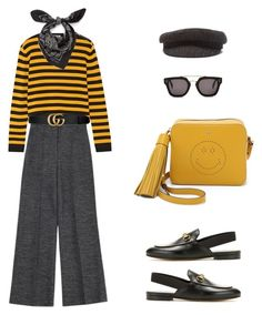 """""""Untitled #217"""" by thetallfashionist ❤ liked on Polyvore featuring Miu Miu, Gucci, Alexander McQueen, Anya Hindmarch, Étoile Isabel Marant and CÉLINE"""