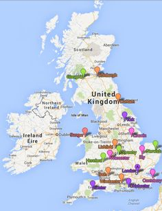 Map of cities in the UK which are considered cities since 'Time Immemorial'
