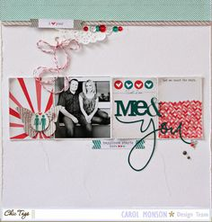 #papercraft #scrapbook #layout. ** Chic Tags- delightful paper tag **: Love Notes