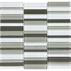 allen + roth City Links Glass Mosaic Wall Tile (Common: 12-in x 12-in; Actual: 11.38-in x 11.93-in)