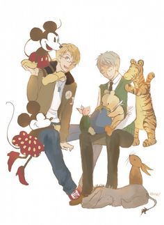 Alfred may not be able to see Arthur's magical creatures, but he can see these guys :)