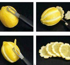Garnish lemons for drinks