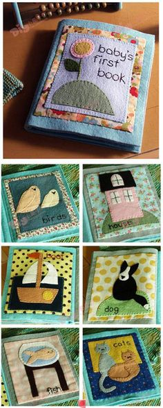 Quiet books from felt