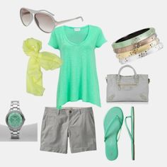 Grey & Green lounge outfit