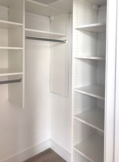 Lots Of Shelves And Hanging In A Small Corner Closet Closetdesign Custom Design