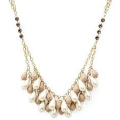 Gold/pearl necklace