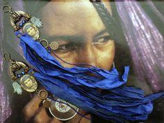 Boucles d'oreilles nomades tribales d'inspiration par FUJIGIRLS