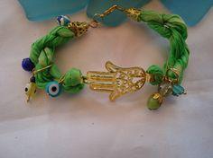 SALE ETHNIC HAMSA Bracelet Gypsy jewelry  Bohemian by Nezihe1, $11.00