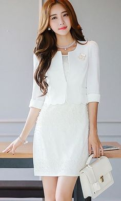 StyleOnMe_Daisy Cut-out and Pearl Detail Chiffon Sleeveless Dress #koreanfashion…