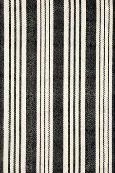 Runner for stairs--DashAndAlbert Birmingham Black Woven Cotton Rug