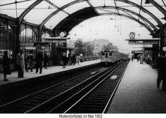 Hochbahnhof Nollendorfplatz im Mai 1952 West Berlin, Berlin Wall, East Germany, Berlin Germany, Berlin Station, The Second City, S Bahn, Cold War, Public Transport