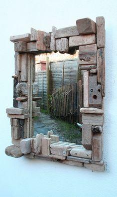 Driftwood Mirror,Drift Wood Mirror,Natural Wood Mirror,Driftwood collage Mirror £160.00