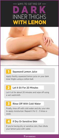 Lemon Remedies to Lighten your Dark Inner Thighs