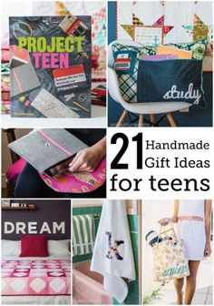 21 DIY Handmade Gift Ideas for Teens from Project Teen - cute stuff for their bedrooms, lots of tote bag tutorials and gifts.