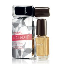 Avon: mark Nailed It Trend Mini Nail Lacquer in Tuxedu & Gleam Scene - jelenamarshall.avonrepresentative.com #avon #beauty #cute #buy #cosmetics #representative #body #eyes #lips #mark #products #makeup